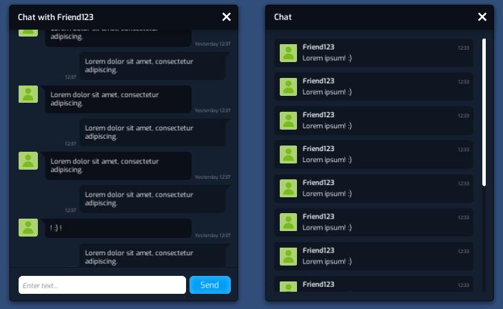 Flat-Min-GUI-Pack Chat Window